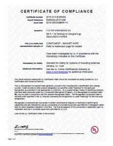 UL listed YDK Litz Wire